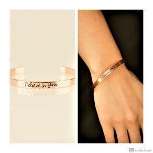 Believe in You Copper Inspirational Cuff Bracelet